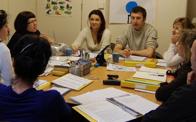Adults students taking part in the evening course of General English at Your English Language School in Dublin