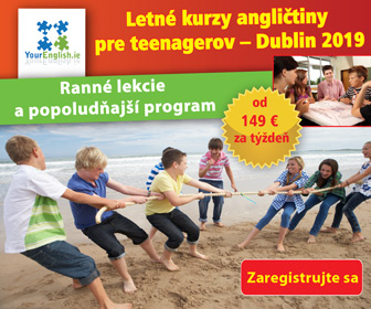 Summer Camp banner with some info about English classes for teenagers in Dublin in summer 2019