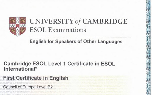 First Certificate In English From Cambridge